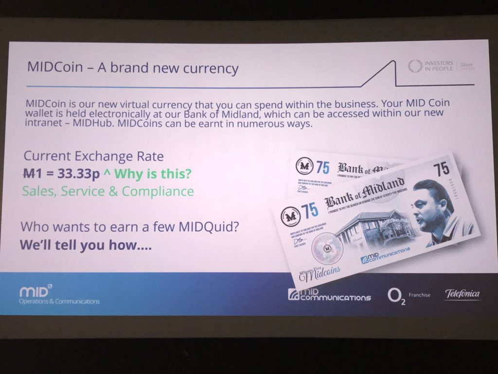 MID Comms Christmas Roadshow new currency, the MIDCoin